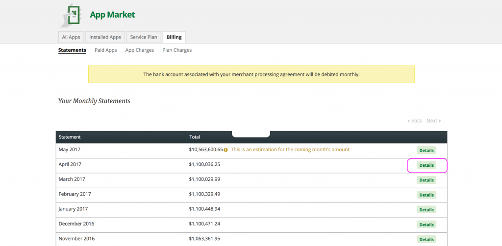View Invoice And Charges - Billing and invoice apps