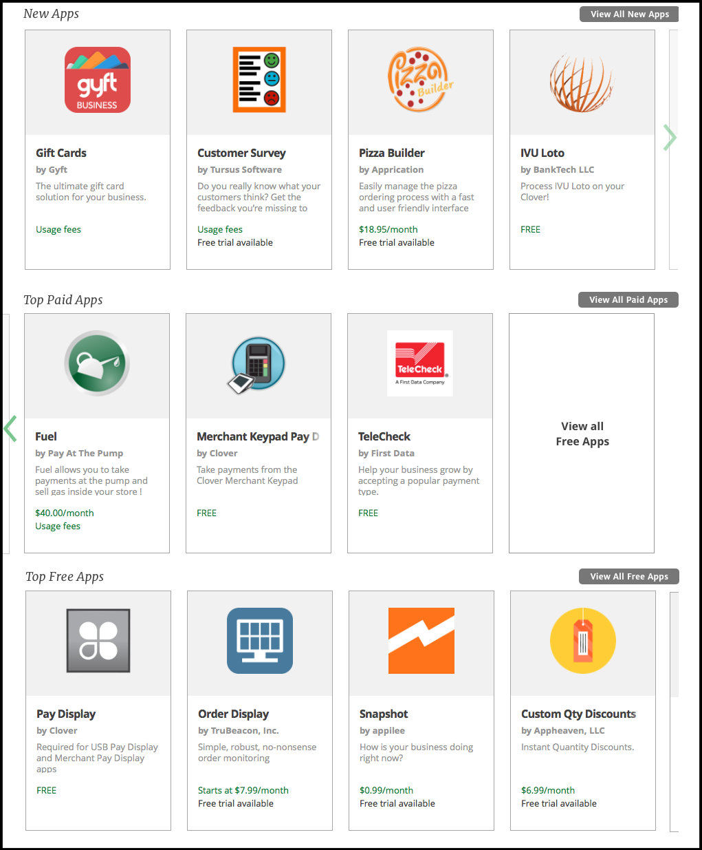 Carousels Added To Web Dashboard App Market For Easier